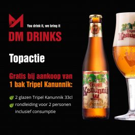 Kanunnik Tripel 24x33cl + 2 glazen